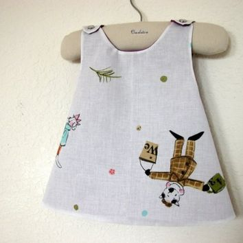 FRENCH C'est l'Ete Adorable Reversible Pinafore Top