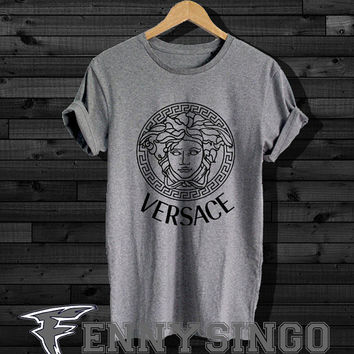 versace inspired medusa grey shirt