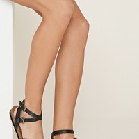 Crisscross Faux Leather Sandals | Forever 21 - 2000169437