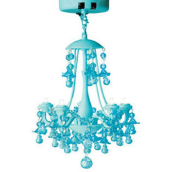 LED Locker Chandelier Light - Aqua Blue