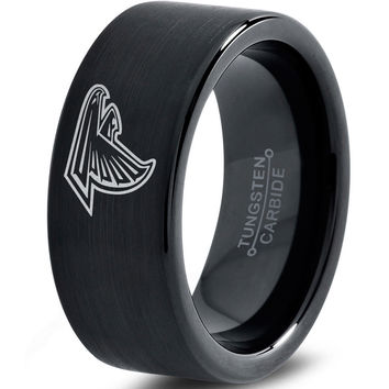 Atlanta Falcons Black Tungsten Ring