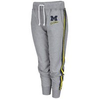 University of Michigan Wolverines Ladies Jogging Pants Fleece Capri Joggers