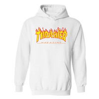 Hot sale famous brand Thrasher Hoodies men and Black Cotton mens Hoodies and sweatshirt Autumn Winter Thrasher men Hoodies 4XL