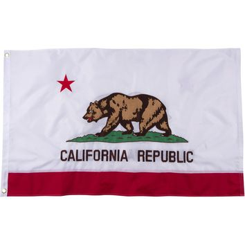 California Republic 2-Sided Embroidered Bear Flag