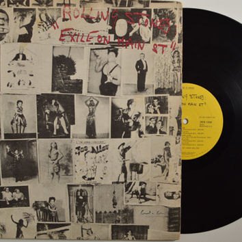 """THE ROLLING STONES - """"Exile On Main St"""" vinyl record"""