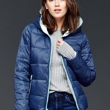 Gap Women Contrast Zip Puffer Jacket