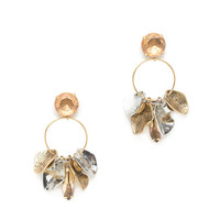 J.Crew Womens Petal Hoop Earrings
