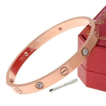 Cartier Woman Fashion LOVE Diamond Plated Bracelet For Best Gift