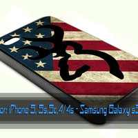 Browning deer camo america flag iPhone Case And Samsung Galaxy Case
