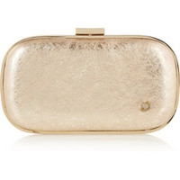 Anya Hindmarch Marano Music Box crinkled-leather wind-up clutch – 50% at THE OUTNET.COM