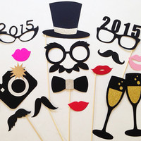 New Years Photo Booth Props New Years Photobooth Props Set of 15