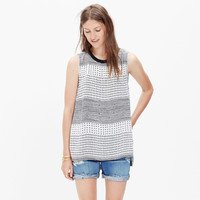 REFINED TANK TOP IN HASHTAG STRIPE