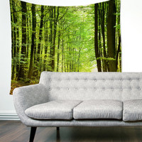 Into The Woods Forest Trees Wanderlust Boho Gypsy Unique Dorm Home Decor Wall Art Tapestry