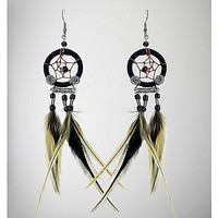 Feather Dream Catcher Dangle Earrings - Spencer's