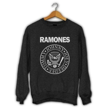 Ramones Logo Sweater I Official Merchandise For Mens and Womens