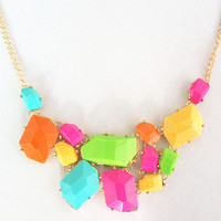 Colored  bubble bib Statement necklace,holiday party Necklace,bridesmaid gifts,Beaded Jewelry,wedding necklace