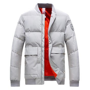 Winter bread men's cotton clothing warm thick coat tide brand cotton clothing youth clothes cotton jacket