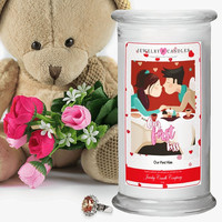 Our First Kiss Valentine's Day Jewelry Greeting Candles