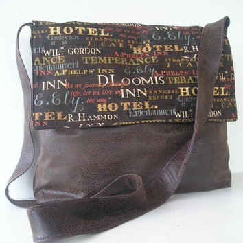 Messenger Bag in Brown Tavern Style by jazzygeminis on Etsy