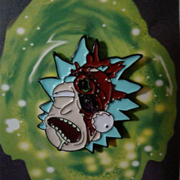 Shot in the M*****r****ing Head Rick Pin! - Rick & Morty Enamel Pin