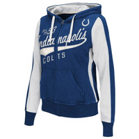 Indianapolis Colts Womens Point After Full Zip Hoodie – Royal Blue