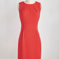 Clientele Me Everything Dress in Tomato | Mod Retro Vintage Dresses | ModCloth.com