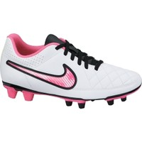 Nike Women's Tiempo Rio II FG Soccer Cleat - White/Pink/Silver | DICK'S Sporting Goods