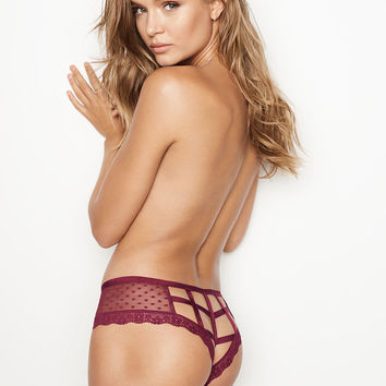 Dot Mesh Cutout Cheeky Panty - Very Sexy - Victoria's Secret