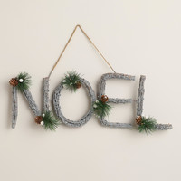 Glittered Twig Noel Wall Decor - World Market