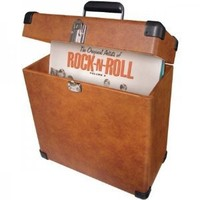 Crosley CR401-TA Record Case Carrier for 30+ Albums (Tan)
