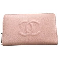 Pre-owned Chanel Caviar Wallet Brand New Pink Clutch