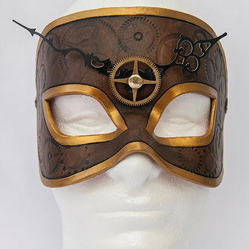 Steampunk Time Traveler Clockwork Leather  - Guaranteed US Delivery by Halloween when ordered by Oct 27th