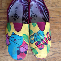 Catbug Bravest Warriors Custom Hand Painted Canvas TOMS Shoes Read Description For Details