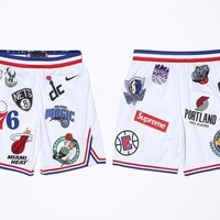 Supreme x Nike x NBA Satin Warm-Up Shorts AQ4228-100