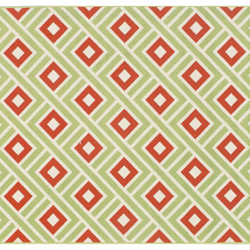 Corfu Outdoor Rug, Green, Area Rugs
