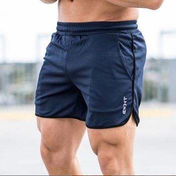Summer Mens Run Jogging Shorts Gym Fitness Bodybuilding Workout Sports Sportswear Male Short Pants  qucik dry shorts