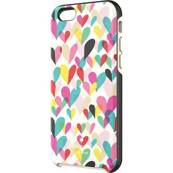 kate spade new york - Confetti Heart Hybrid Hard Shell Case for Apple® iPhone® 6 - Rainbow
