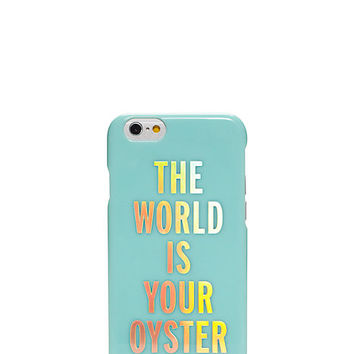 Kate Spade The World Is Your Oyster Resin Iphone 6 Case Nisbet Blue