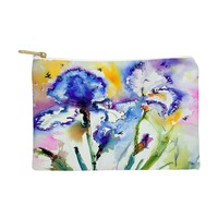 Ginette Fine Art Bearded Irises Pouch