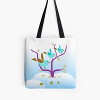 'Winter Birdies #Redbubble #GiftOriginal' Tote Bag by mirimo