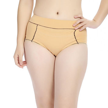Women Cotton Menstrual Leakproof Pocket Warmth Panties Physiological High Waist Briefs Underwear