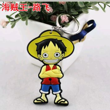 Brand New Anime One Piece Luffy Keychain