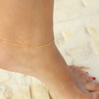 Delicate Gold Anklet  Anklet ankle by JulJewelry on Etsy