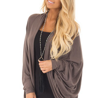 Cocoa Loose Fitting Cardigan