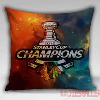 Galaxy Chicago Blackhawks Stanley Cup Throw Pillow for the Home Decor