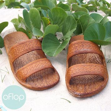 Light Brown Jandals ® -- Pali Hawaii Hawaiian Jesus Sandals