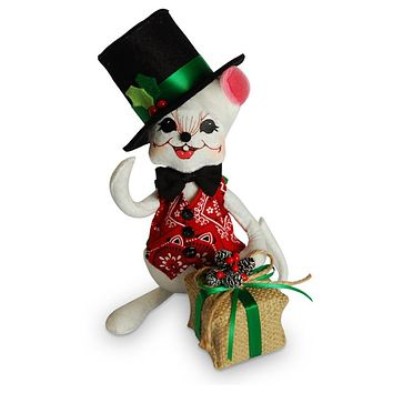 Annalee Dolls 2016 Christmas 8in Rustic Yuletide Boy Mouse Plush New with Tags