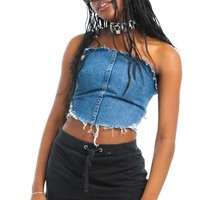 Vintage Renewed Denim Tube Top - One Size Fits Many