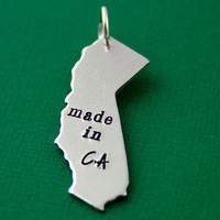 Made In Your State Pendant  - Hand Stamped State Pendant