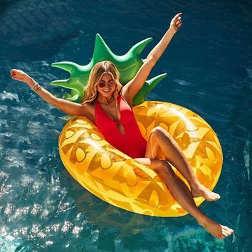 120cm Giant Pineapple Inflatable Swimming Ring For Adult Children Summer Party Pool Float Water Tube Toys Lounger boia piscina